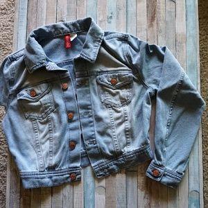 H&M Cropped Denim Jacket Size 6